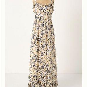 Anthropologie Hydrangea Petals Maxi Dress